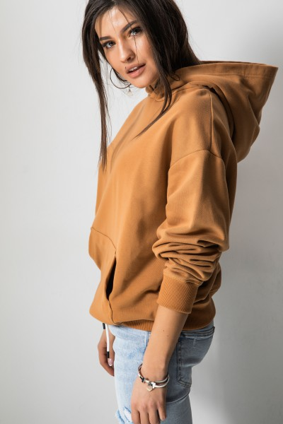 Cora Bluza Kaptur Camel