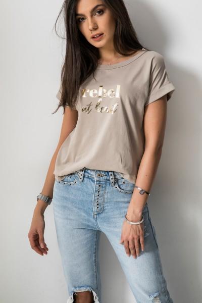 Triniti T-shirt Beż