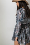 Laura Sukienka Kwiaty Grey