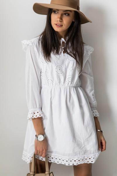 Catalina Ażurowa Sukienka Biel