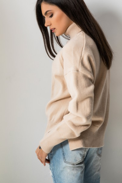 Joelle Asymetryczny Sweter Beż