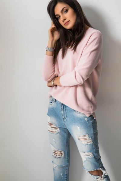 Felipo Sweter Dekolt Róż