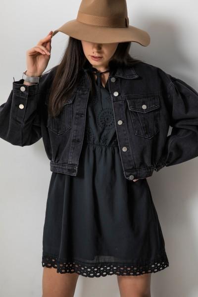Catalina Ażurowa Sukienka Czarna
