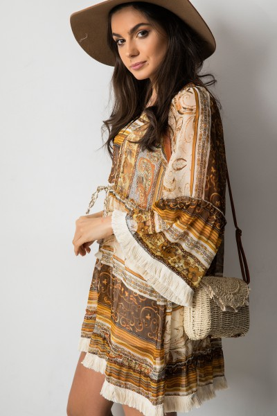 Lucia Sukienka Boho Camel