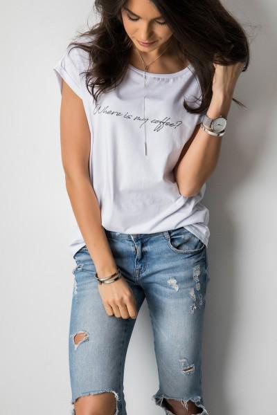 Rissa T-shirt biel