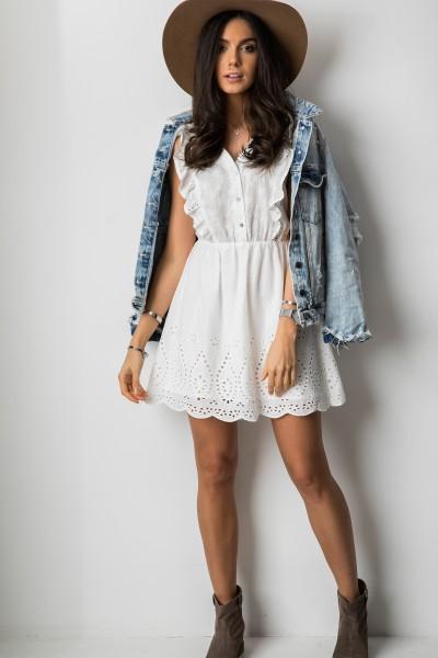 Priscila Ażurowa Sukienka White