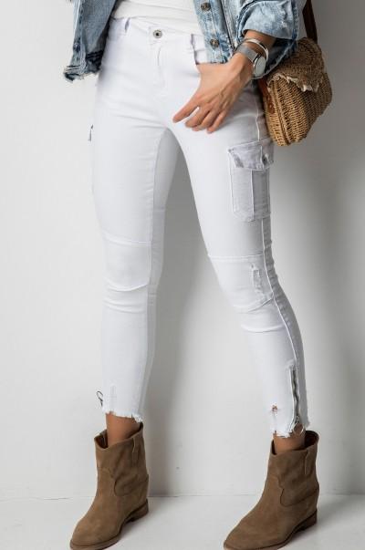 31744B Spodnie Biel