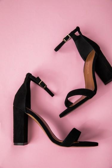 Sandałki Skórzane Czarne