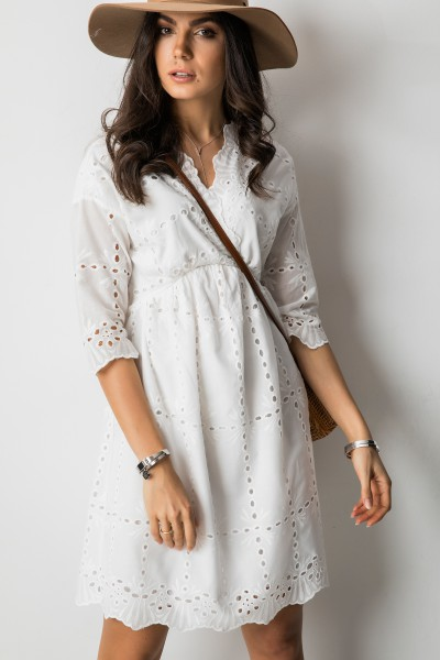 Miguela Sukienka Ażurowa Biel