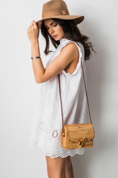 Estella Sukienka Ażurowa Biel