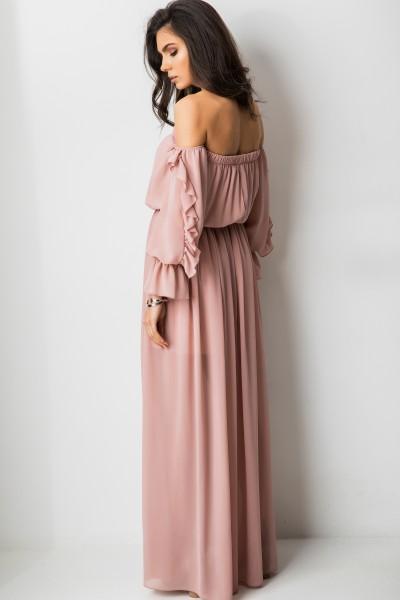 Noelia Sukienka Hiszpanka Maxi Pudrowy Róż