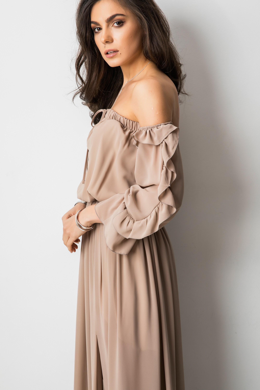 075432570d Noelia Sukienka Hiszpanka Maxi Cappucino - Butik Lorenzo