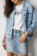 DY563 Asymetryczna Spódniczka Jeans