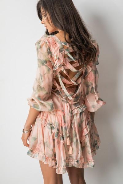 Rosaline Sukienka Flowers Pink