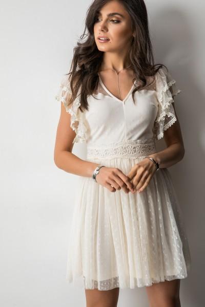 Dolly Sukienka Ecru