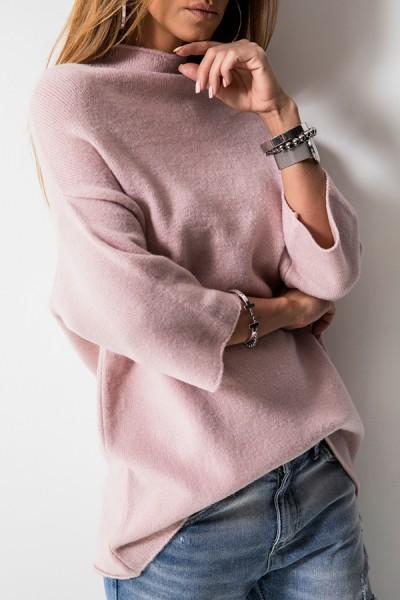 Sweter Stójka Róż