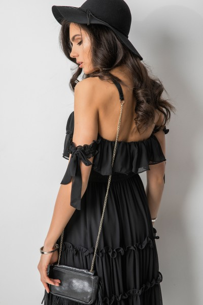 Felipina Sukienka Hiszpanka Midi Black
