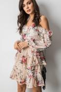 Bolivia Sukienka Flowers Print Róż