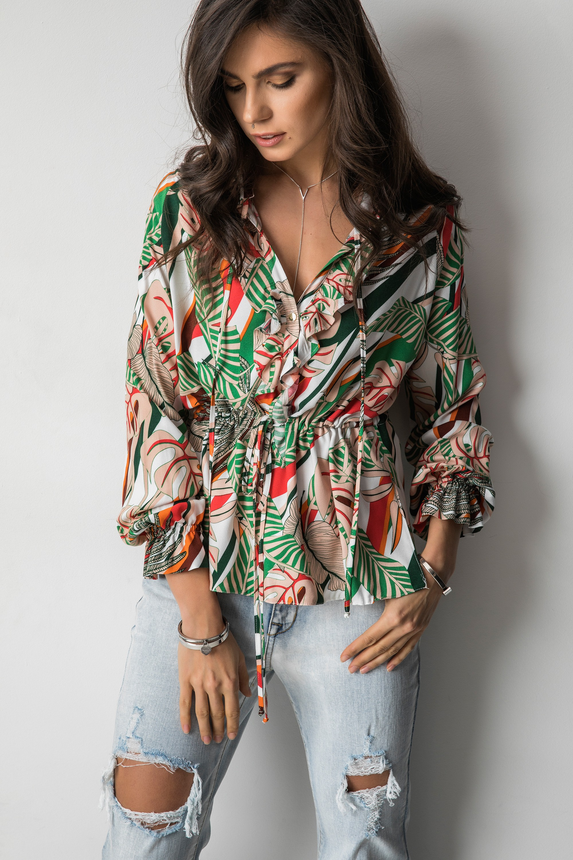 Pennie Bluzka Tropical Print
