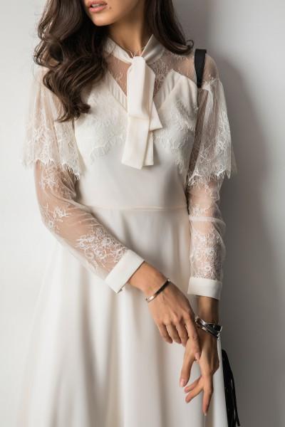 Ivette Sukienka Maxi Ecru
