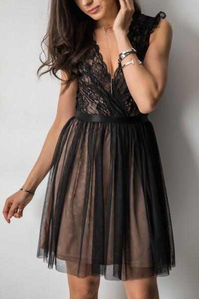 Lily Sukienka Black/Beige