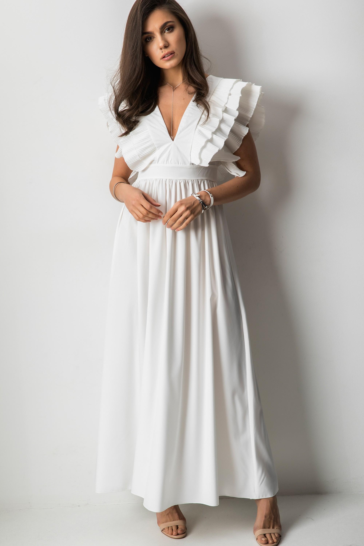 Alizee Sukienka Maxi Biel