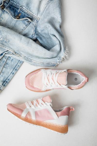 B0 80 Ażurowe Buty Sportowe Róż