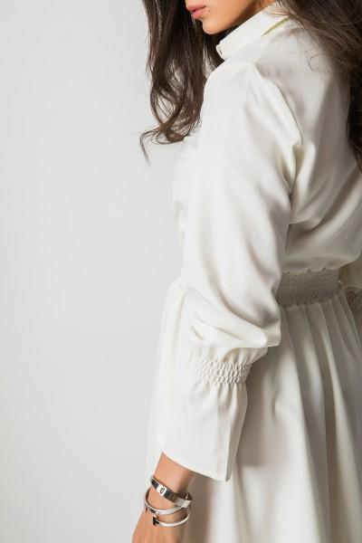 Dakota Sukienka Guziki Ecru