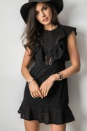 Celine Ażurowa Sukienka Czarna