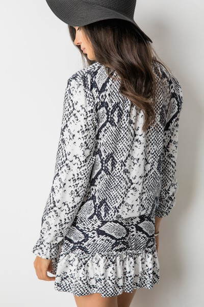 Ella Sukienka Wężowy Print