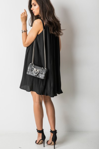 Erika Plisowana Sukienka Black