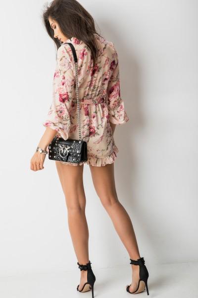 Stephanie Sukienka Kwiaty Beż
