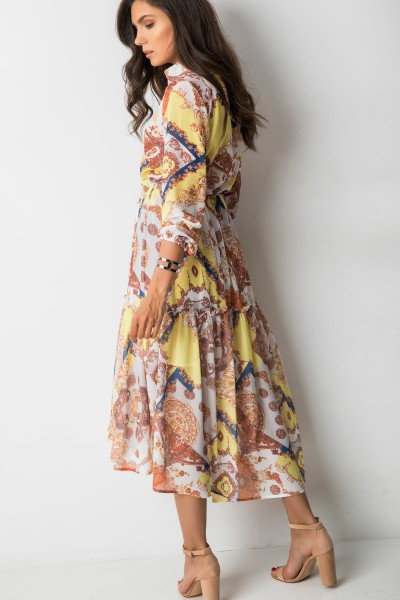 Costanza Asymetryczna Sukienka Maxi Print
