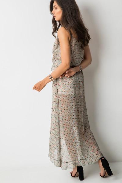 Scarlett Sukienka Maxi Print Khaki