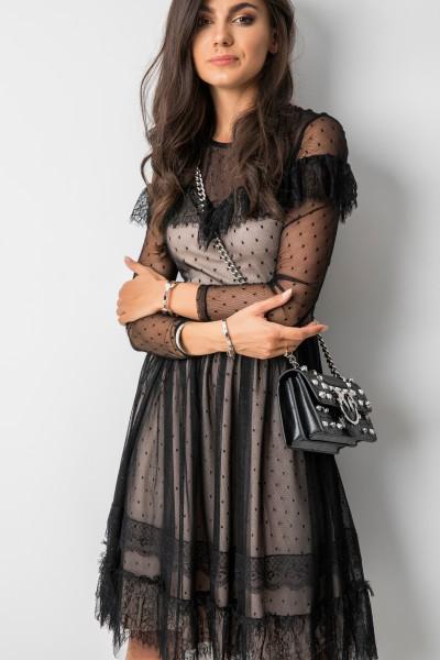 Valeria Sukienka Black/Beige
