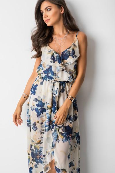 Scarlett Sukienka Maxi Blue Flowers