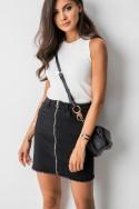 J186 Spódniczka Jeans Black