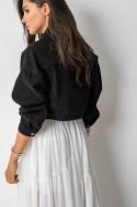 1J292 Kurtka Oversize Jeans Black