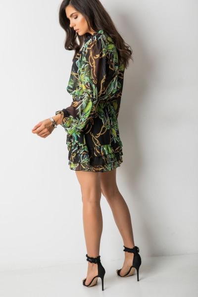 Perri Black Flowers Skirt
