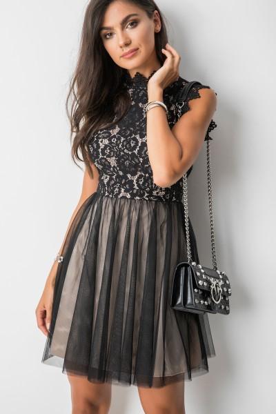 Soledad Sukienka Mini Black/Beige