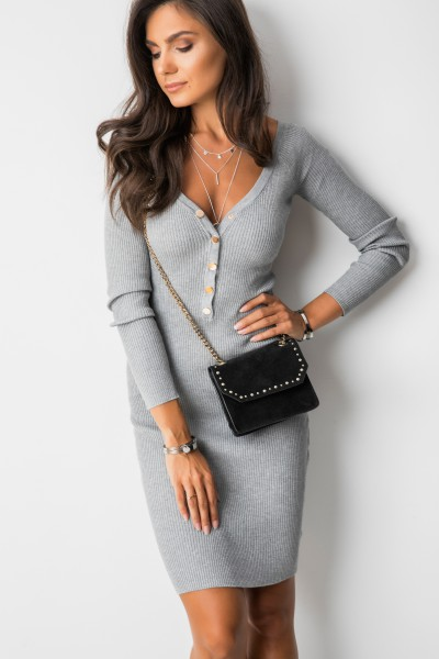 Enrika Sukienka Prążki Grey