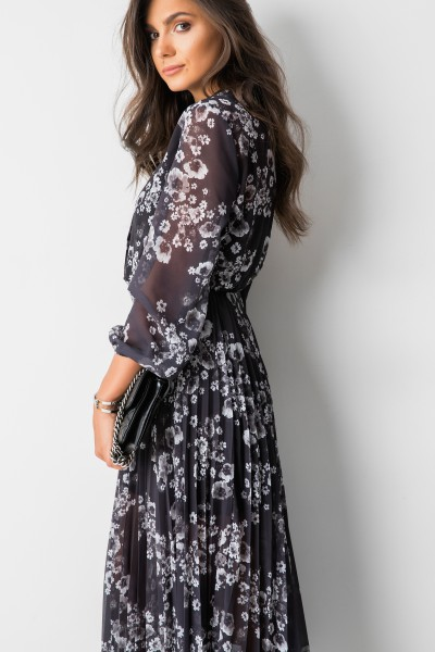 Catherina Sukienka Maxi Flowers Black