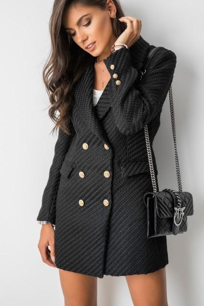 M1847 Płaszcz Czarny