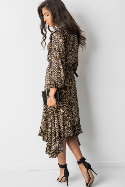 Elisabet Sukienka Midi Panther Camel
