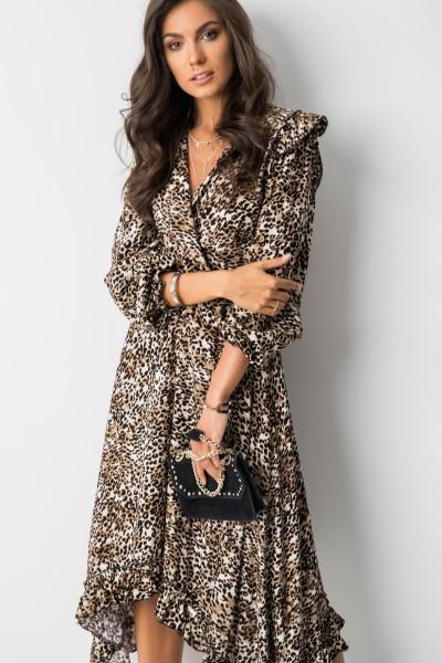 Elisabet Sukienka Midi Panther Beż