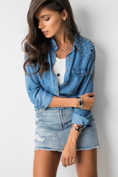 Carola Koszula Jeans Blue