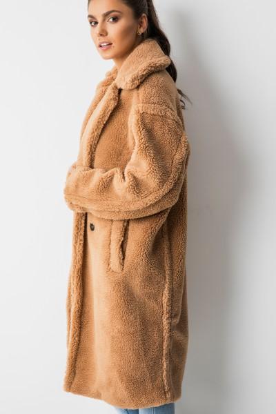 8279 Płaszcz Pluszowy Camel