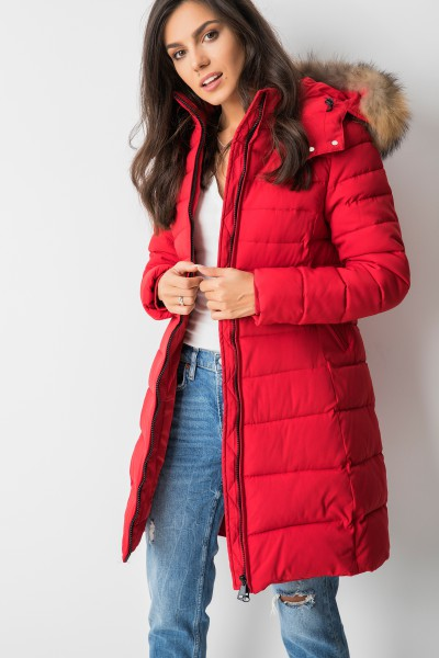 MY0328 Płaszcz Puchowy Red