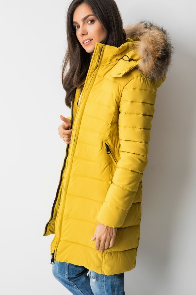 MY0328 Płaszcz Puchowy Yellow