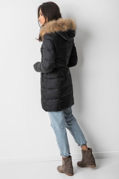 TR915 Płaszcz Puchowym Z Lisem